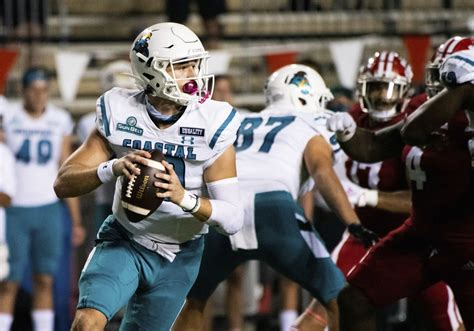 No. 25 Coastal Carolina minus injured starting QB McCall ...
