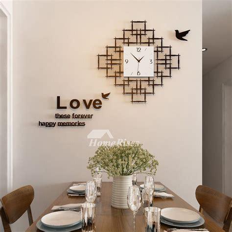 living room wall clocks acrylic hanging silent decorative