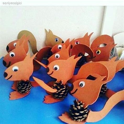 animal craft crafts and worksheets for preschool toddler 632 | pine cone squirrel craft idea