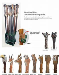 Hand Carved Hiking Sticks - Squire Boone Village Products