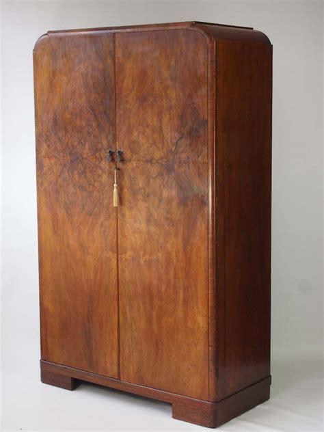 Walnut Wardrobe by Deco Walnut Wardrobe With Fitted Interior
