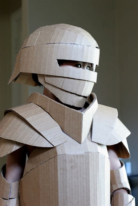 cardboard armor fantastical cardboard costume diy turns boxes into s armor