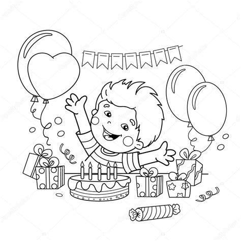 Dibujos: cumpleaños para niños Para colorear página