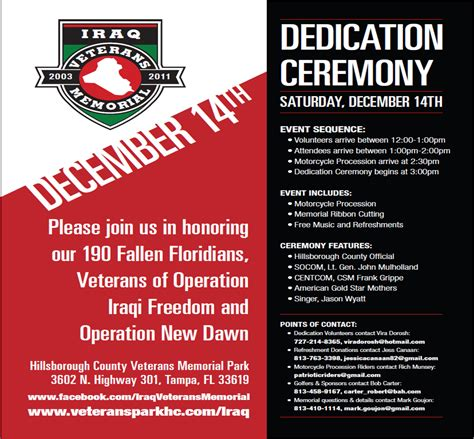 veterans day program template iraq veterans memorial november 2013