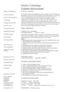 basic customer service resume format exles customer service resume resume cv