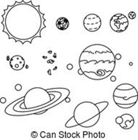 solar system clipart black and white solar system planets vector clipart illustrations 6 524