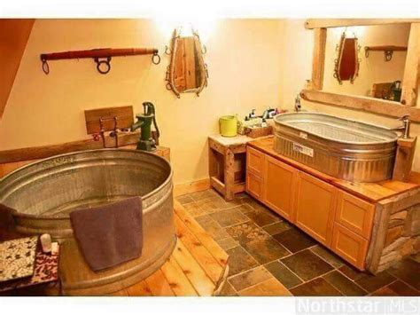 Trough Bathtub and Sink/Rustic Bathroom   Ideas for the