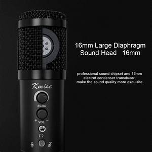Kmise Usb Condenser Microphone 16mm Large Diaphragm For