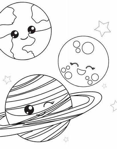 Coloring Space Pages Printable Planet Sheets Preschool