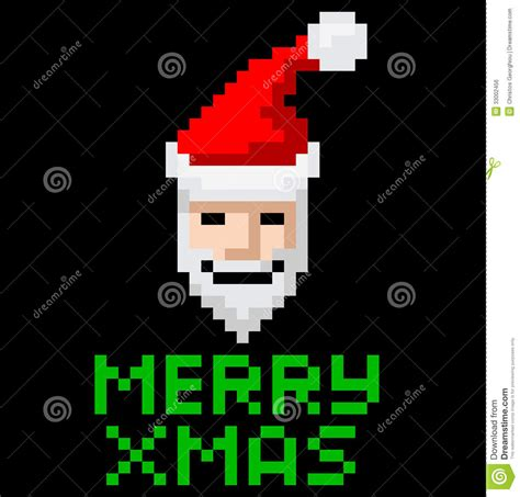 best pixel merry christmas retro arcade pixel santa stock vector illustration of icon fashioned 33002456