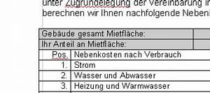 Nebenkosten Abrechnung : office vorlagen seite 2 von 4 ~ Themetempest.com Abrechnung