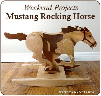 weekend projects mustang rocking horse wood toy plans