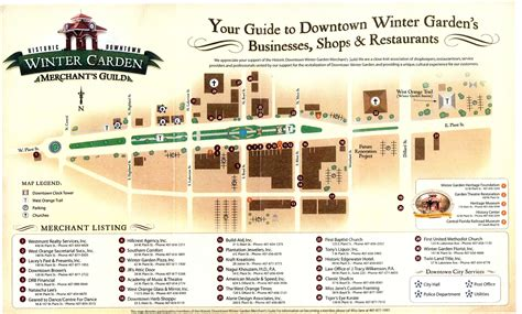 winter garden merchants guild map winter garden florida