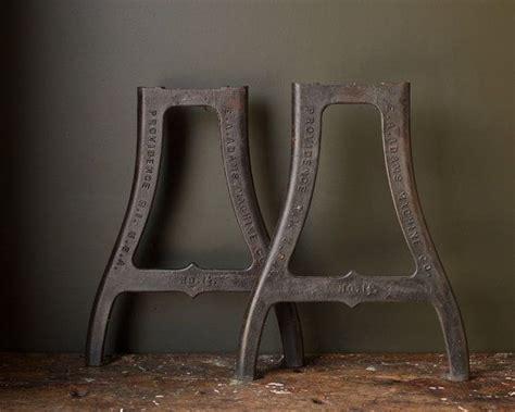 vintage industrial metal table legs 1930 s original cast iron sted machine legs