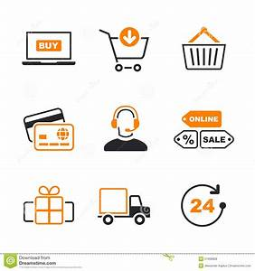 Set Online Shop : online shopping simple vector icon set stock vector image 51606828 ~ Orissabook.com Haus und Dekorationen