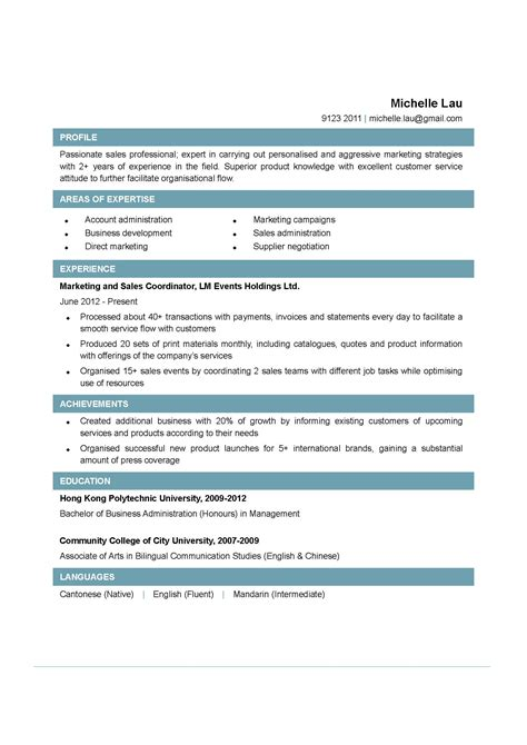 Sle Of A Resume Format by Pin By Resumejob On Resume Sle Resume