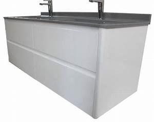 Meuble Salle De Bain 140 Cm : meuble salle de bain de 140 cm aux angles arrondis ~ Dailycaller-alerts.com Idées de Décoration