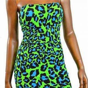 Neon Green & Blue Leopard Print from coquetryclubwear