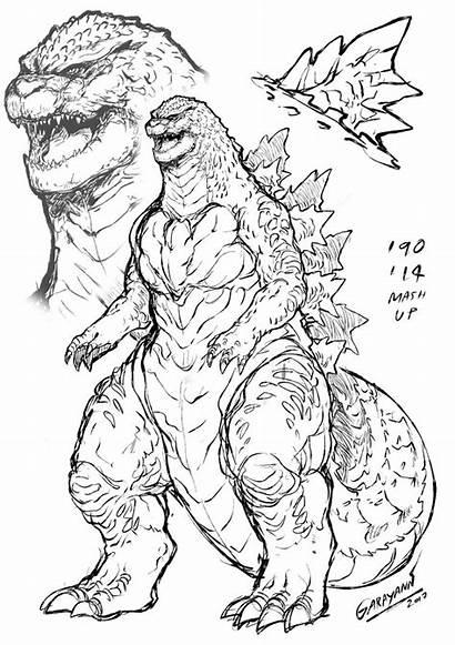 Godzilla Coloring Heisei Garayann King Monster Deviantart