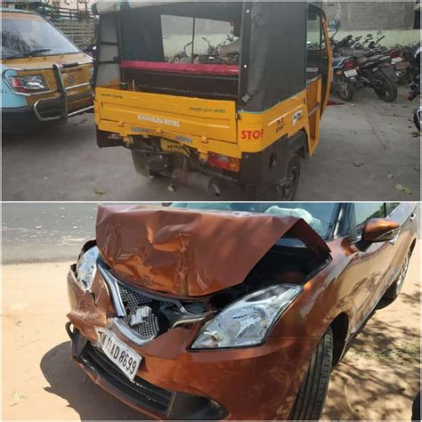 Video: Baleno and Auto Accident In Highway - Impact Caused ...