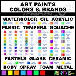 Types of Artist Paint Colors