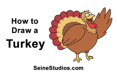 draw  cartoon thanksgiving turkey