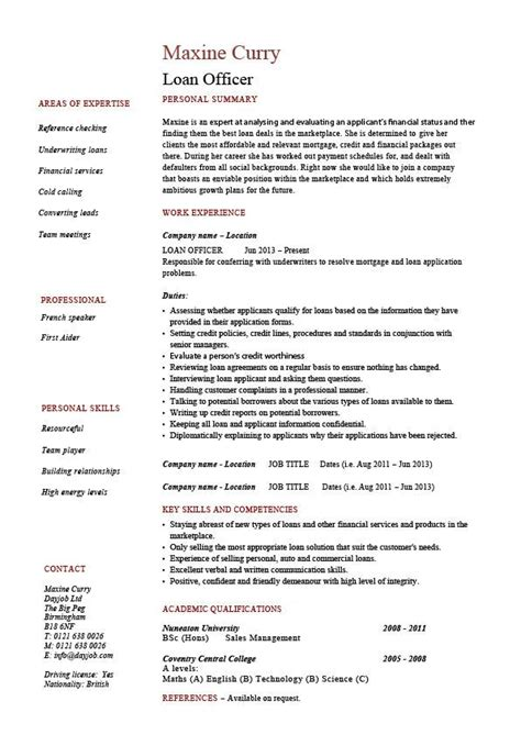 Loan Officer Resume Summary by Loan Officer Resume Exle Sle Banks Mortgage