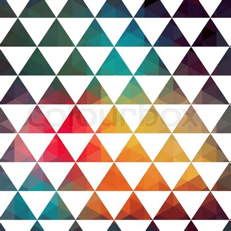vector triangles pattern modern pattern colorful texture in style geometry