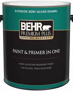 Behr premium plus exterior paint primer in one semi for Exterior paint with primer