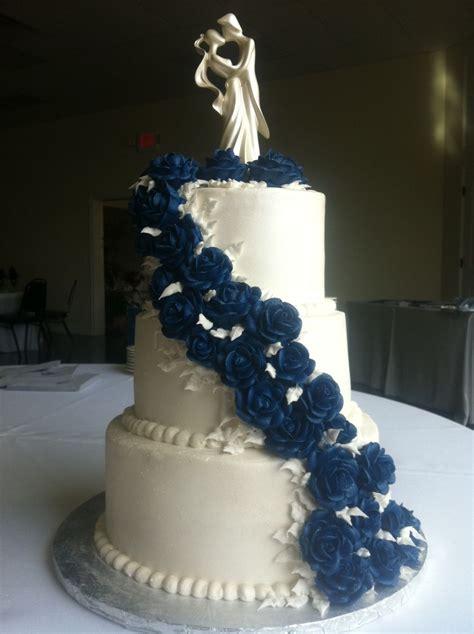 blue buttercream rose wedding cake allthingscakeshopcom