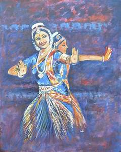 Bharatha Naatyam Painting by Usha Shantharam