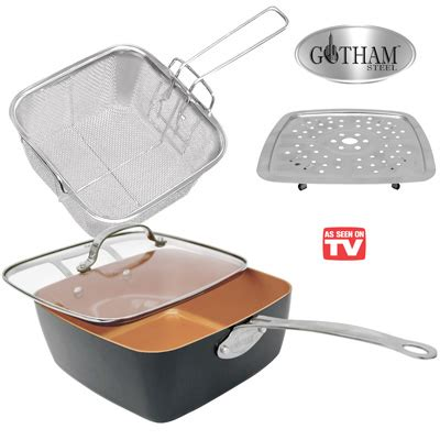 gotham steel deep square pan set  pc  collections