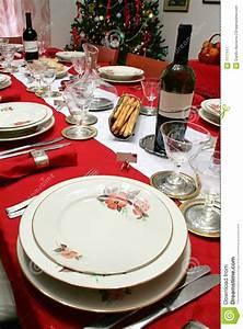 Christmas Table setting stock image Image of drink, house