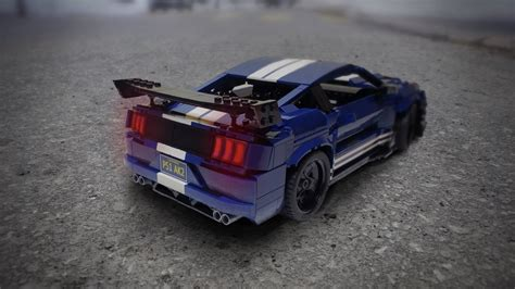 lego ford mustang fan built lego 2020 ford mustang shelby gt500 captures the
