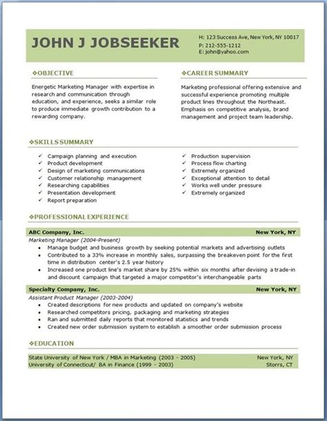Executive Resumes Templates by Eco Executive Level Resume Template Resume Exles