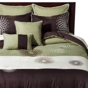medallion embroidered 8 piece bedding set gree target