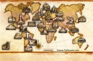 Mapa de Maravillas del mundo Cultura, arte y educación TuParada