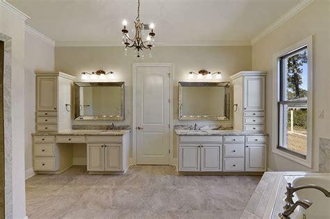 dual vanities include storage cabinets  knee space