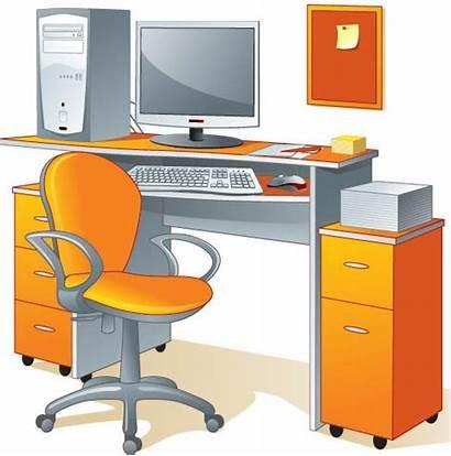 Office Furniture Vector Vectors Elements Eps