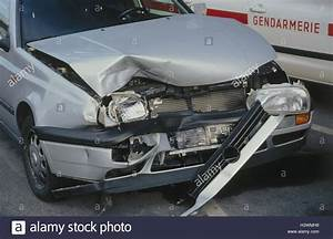 Traffic Accident  Car  Silver  Front Damage  Service