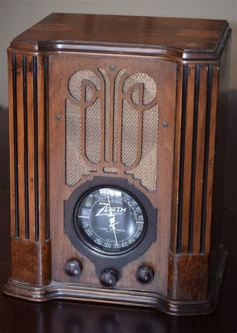 antique art deco ls authentic 1936 antique zenith art deco farm radio model