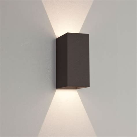 astro oslo 160 led outdoor up down wall light black