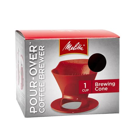 Cone design enables you to see into the cup without lifting to a. Melitta Pour-Over Coffee Brewer   London Drugs