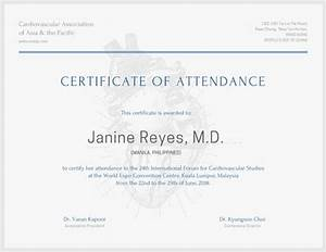 minimalist conference attendance certificate templates With conference certificate of attendance template