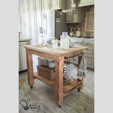 Diy Kitchen Island Free Plans!  Mobile Kitchen Island