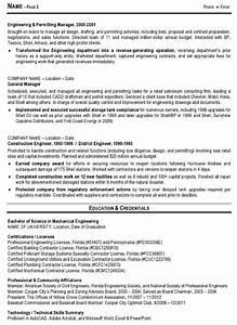 Resume sample 7 engineering management resume career for Engineering resume builder