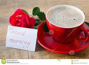 Bonjour La Haut : tasse de caf avec la rose de rouge et bonjour de notes photo stock image du lifestyle beau ~ Medecine-chirurgie-esthetiques.com Avis de Voitures