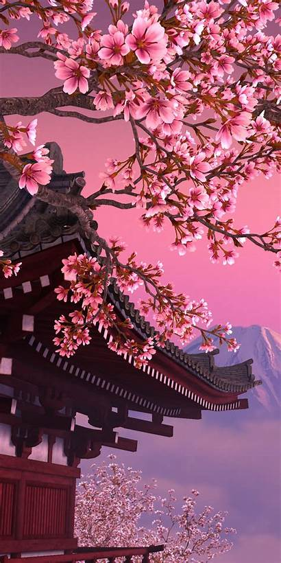 Sakura Tree Mobile Japanese Iphone Cherry Blossom