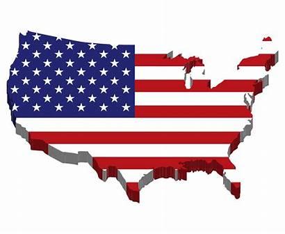 America States United Flag Map Clipart Usa