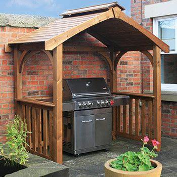 anchor fast pine wood bbq grilling pavilion gazebos